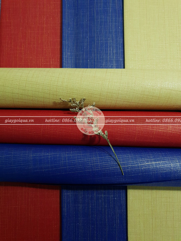 Giấy gói quà, bọc quà cao cấp chất vải sọc