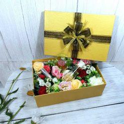 Hộp quà hoa hồng, hộp quà valentine HQ16 – Kích thước 30x20x10