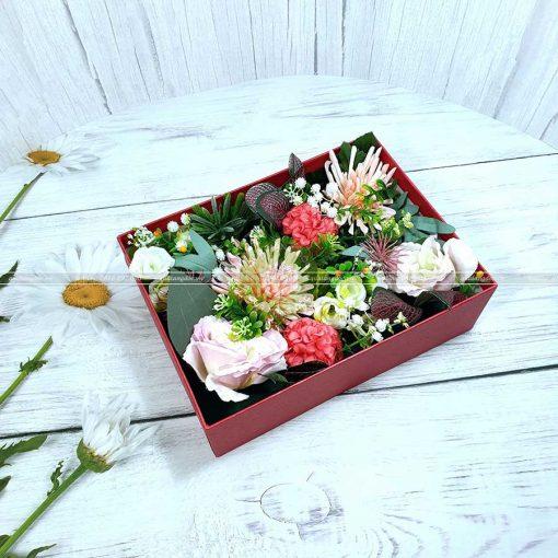 Hộp quà hoa hồng, hộp quà valentine HQ18 – Kích thước 23x17x7