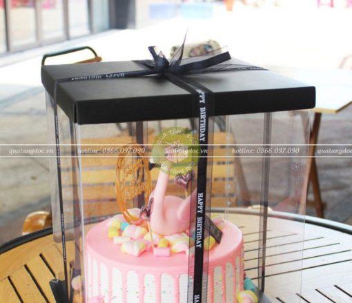 Ruy băng Happy Birthday voan pha lụa 2,5cm - RB32