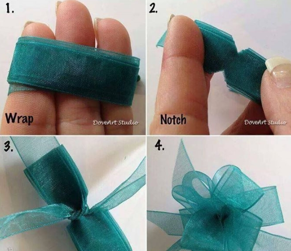 Cách thắt nơ ruy băng đẹp