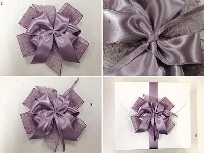 Hướng cách làm nơ gói quà đẹp với ruy băng bản to