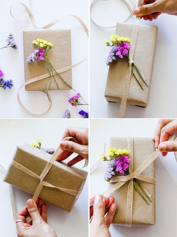 4 Bước làm ruy băng trang trí hộp quà đơn giản